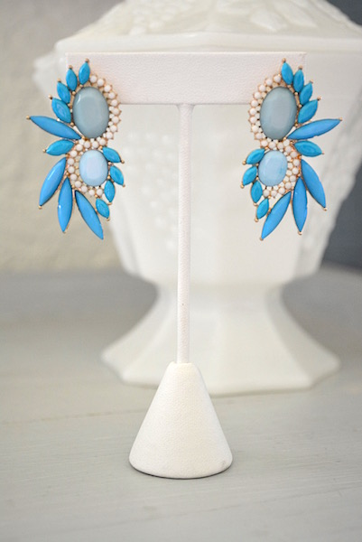 Blue Marquise Earrings, Blue and Turquoise Jewelry