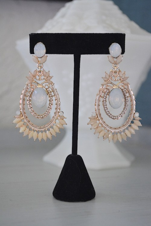 Cream Earrings, Ivory Earrings