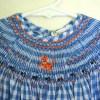 Gingham Tiger Smocked Dress, Tiger Smocked Dress, Blue and White Gingham Dress, Smocking, Smocked Dress, Bishop Dress