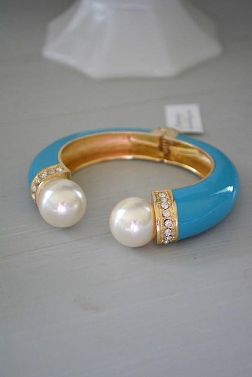 Turquoise Enamel Bracelet, Open Bangle Bracelet, Cuff Bracelet, Turquoise Jewelry