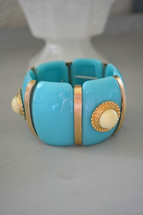 Tiffany Blue Bracelet, Turquoise and White Bracelet, Tiffany Blue Jewelry