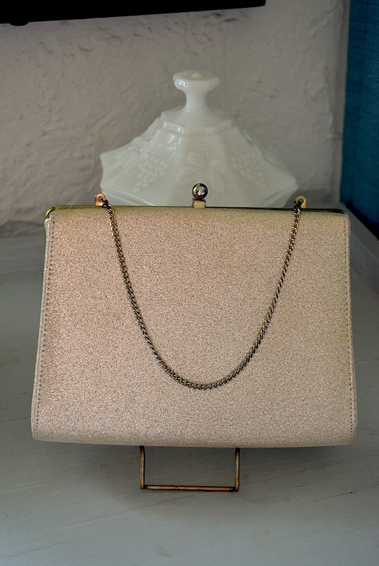 Gold Purse, Vintage Purse, Vintage Clutch, Gold Clutch