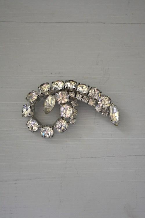Rhinestone Brooch, Vintage Brooch, Vintage Jewelry, Retro Brooch