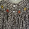 Fall Leaves Smocked Dress, Gingham Dress, Chocolate Gingham Dress, Bishop Dress, Smocked Clothes, Bishop Dress, Fall Clothes, Girl's Dress