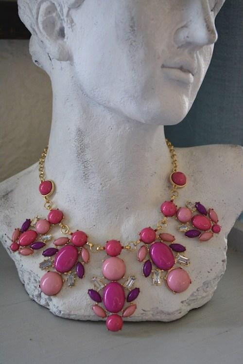 Pink Necklace, Necklace, Rose Necklace, Magenta Necklace, Fuchsia Necklace, Pink Jewelry, Fuchsia Beaded Necklace,