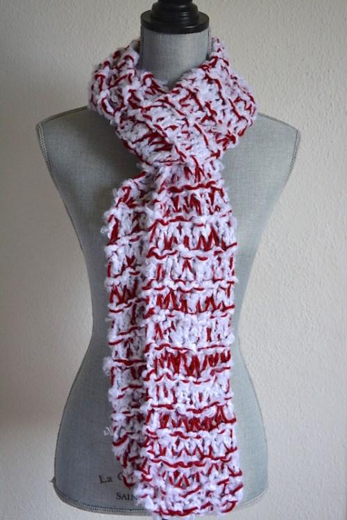 Red and White Scarf, Team Colors, Alabama, Crimson Scarf, Crimson Scarf,