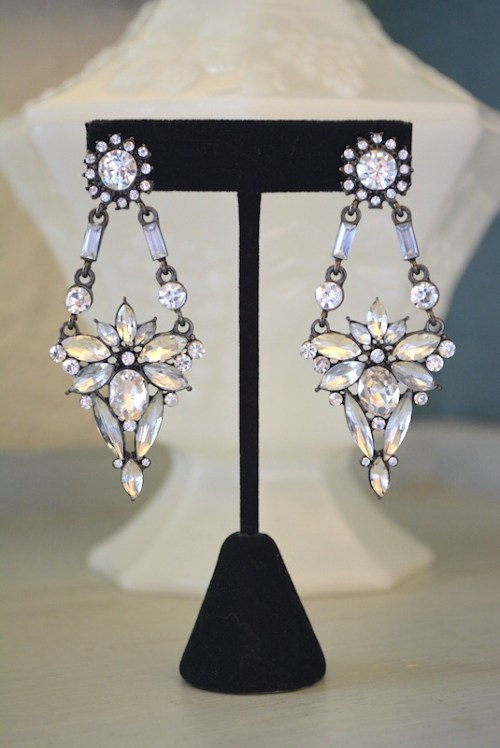 Rhinestone Chandelier Earrings,Art Deco Earrings,Art Deco Jewelry,Statement Earrings, Rhinestone Statement Earrings