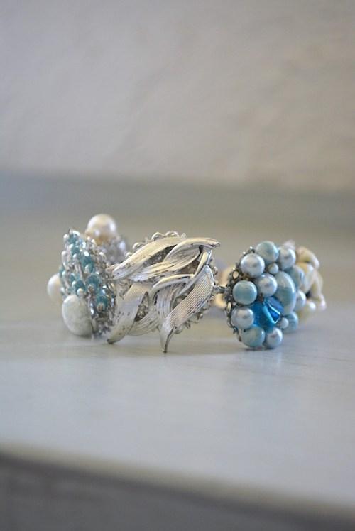 Blue Medallions Bracelet,Bride, Bridal Jewelry, Bridal Bracelet
