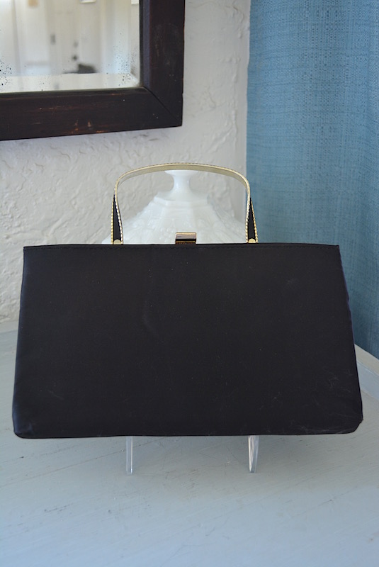Black and Gold Purse,Black Purse, Ande' Purse, Vintage Black Purse