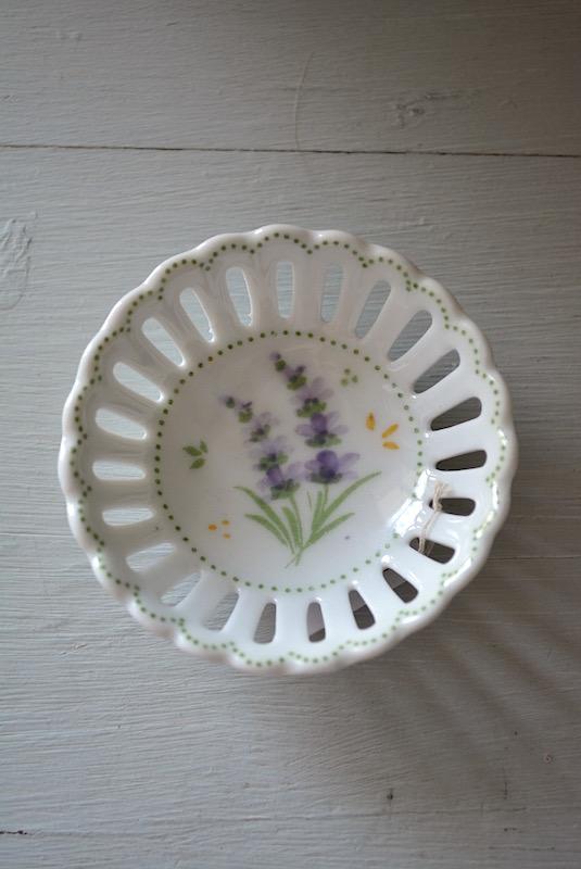 Lavender Jewelry Tray,Flower Jewelry Tray,Jewelry Bowl, Ceramic Dish,Flower Jewelry Tray