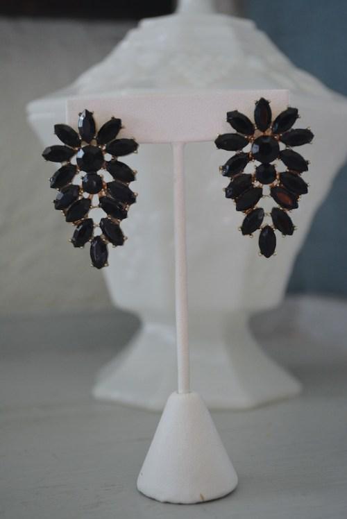 Black Earrings, Black Wing Earrings, Feather Earrings, Black Jewelry