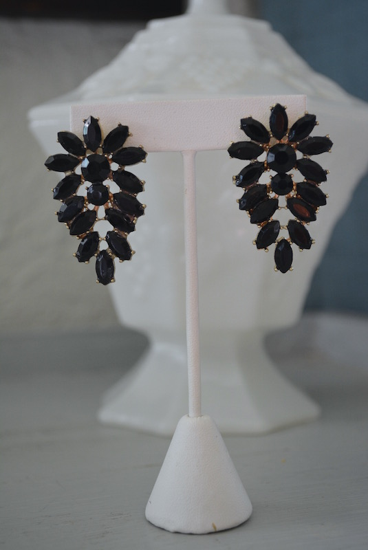 Black Earrings, Black Wing Earrings, Feather Earrings, Black Jewelry