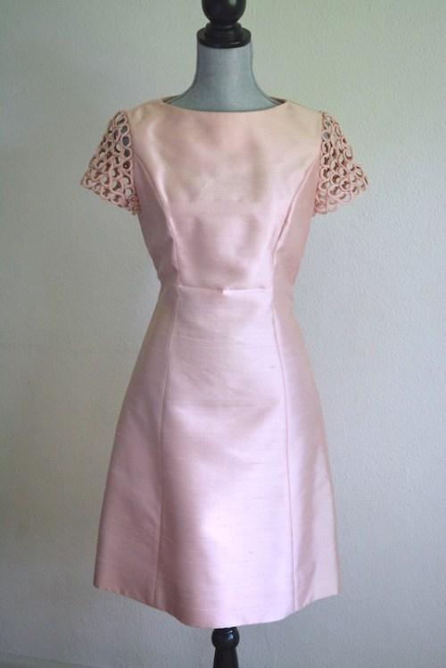 Pink Dress, Vintage Dress, Vintage Clothes, Blush Dress, Mother of the Bride Dress