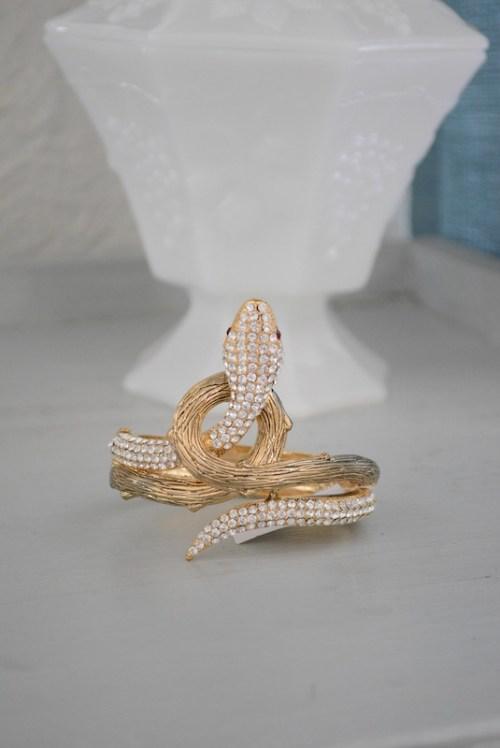 Coiled Snake Bracelet, Snake Bracelet, Gold Snake Bracelet, Snake Jewelry, Victorian Jewelry