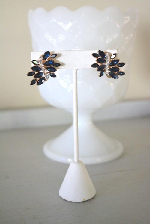 Sapphire Earrings, Navy Earrings, Blue Earrings, Bridal Jewelry, Bridal Blue Jewelry