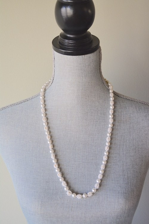 White Pearl Necklace, Pearl Necklace, Vintage Pearl Necklace, White Necklace, Vintage White Necklace