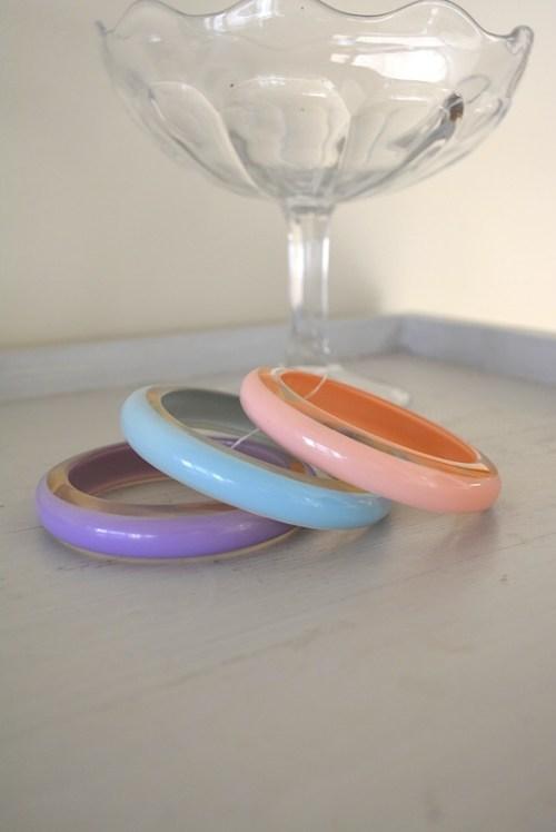 Pastel Bangle Bracelets, Vintage Bracelets, Bangle Bracelets, Pink Bracelet, Purple Bracelet, Blue Bracelet, Pastel Bracelets
