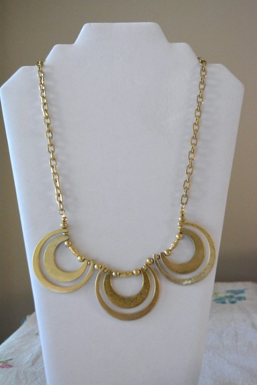 Gold Loops Necklace, Matte Gold Necklace, Gold Necklace, Loop Necklace, Boho Jewelry, Bohemian Necklace, Bohemian Jewelry