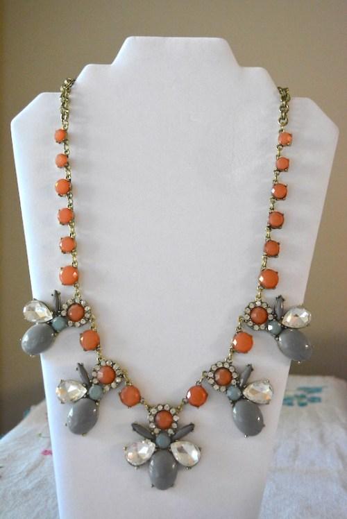 Grey Bug Necklace, Bug Necklace, Bug Jewelry, Grey Necklace, Victorian-Inspired Jewelry