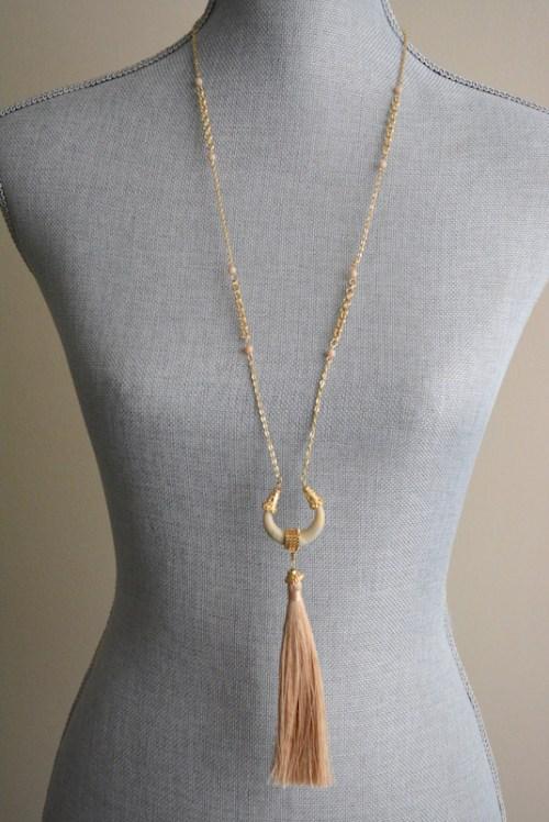 Tusk Fringe Necklace, Long Tusk Necklace, Long Necklace, Fringe Necklace, Bohemian Jewelry, Boho Jewelry