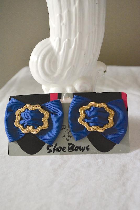 Blue Show Bows, Blue Shoe Clips