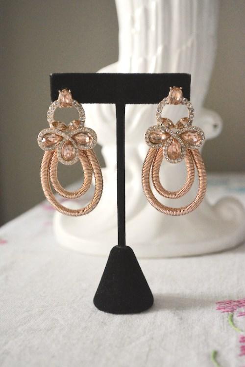 Rose Gold Teardrop Earrings, Rose Gold Earrings, Teardrop Earrings, Bride, Wedding, Formal Earrings