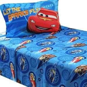 3pc-Disney-Cars-Twin-Bed-Sheet-Set-Lightning-McQueen-City-Limits-Bedding-Accessories-0