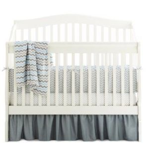 American-Baby-Company-100-Cotton-Percale-Crib-Bumper-Zigzag-Grey-0-0
