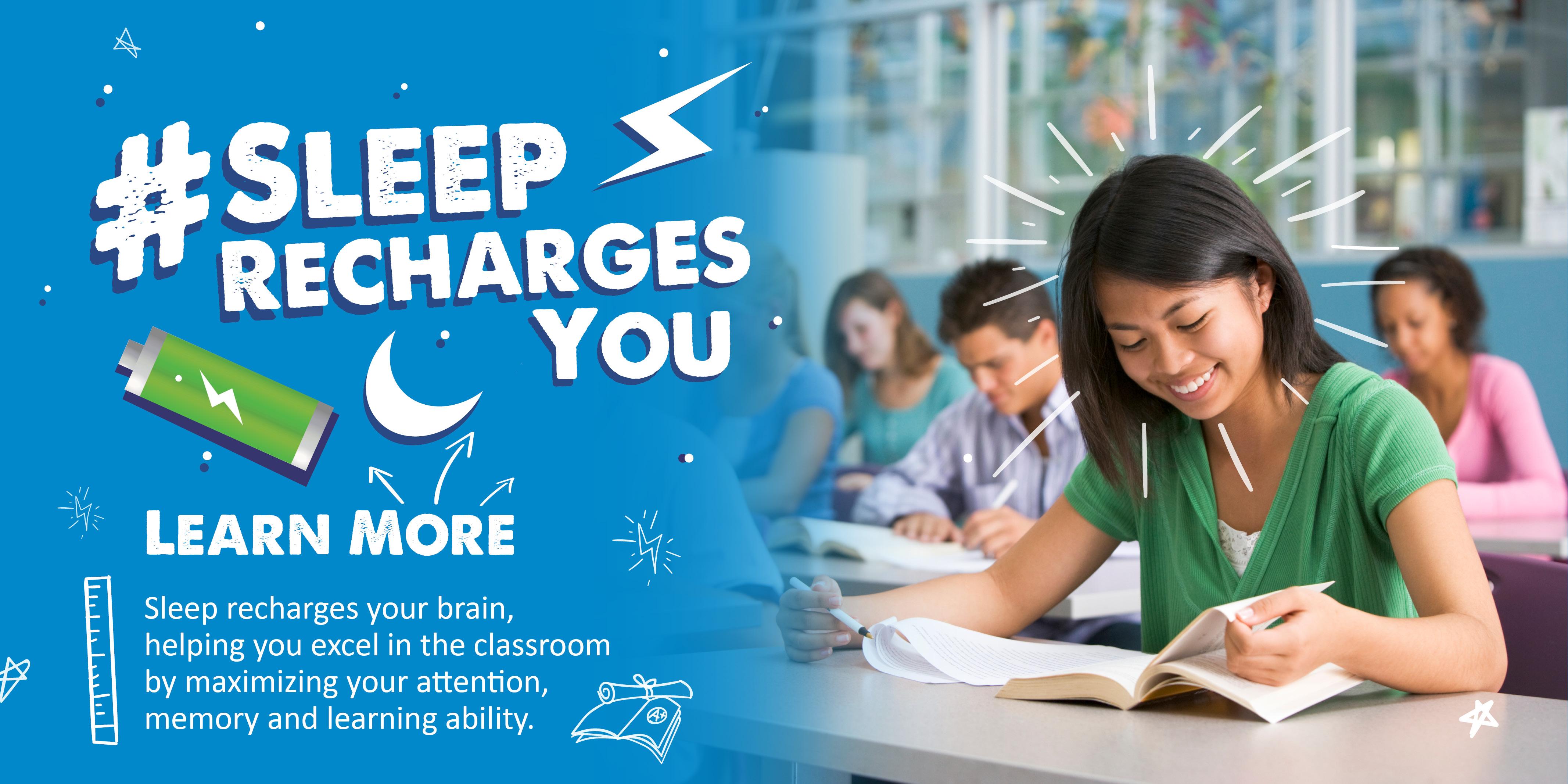 Sleep Recharges You High School Toolkit