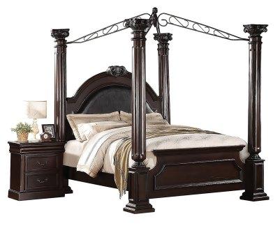 ACME 21340Q Decorative carving Roman Empire II Bed