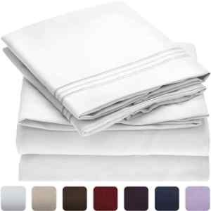 Mellanni Brushed Microfiber Hypoallergenic Bed Sheet Set
