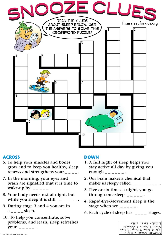 Snooze Clues Sleep For Kids