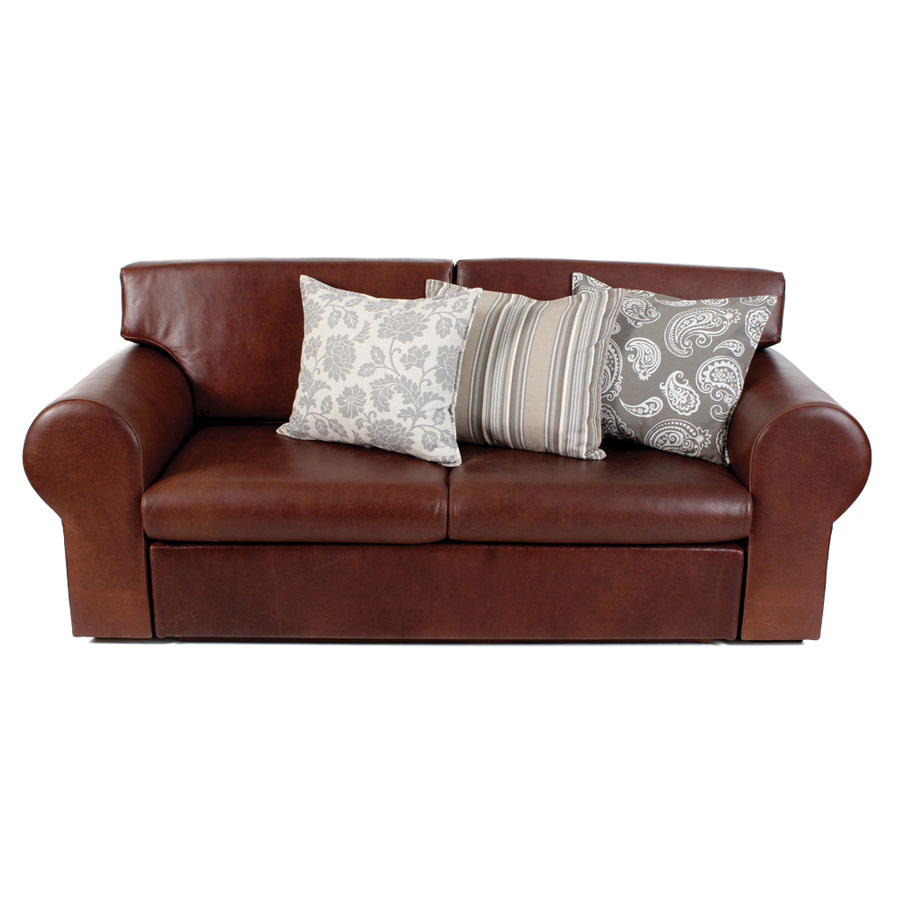 Montrial 2 5 Division Genuine Leather Sleeper Sleeping Couch And  ~ Genuine Leather Sleeper Sofa
