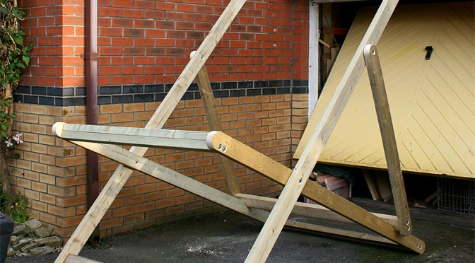 Giant Deckchair frame assembled