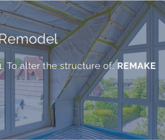 Definition Of Remodel