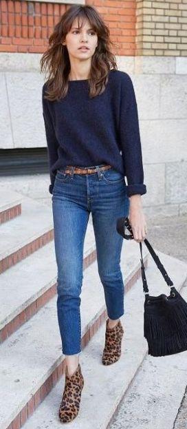 Jeans droit brut