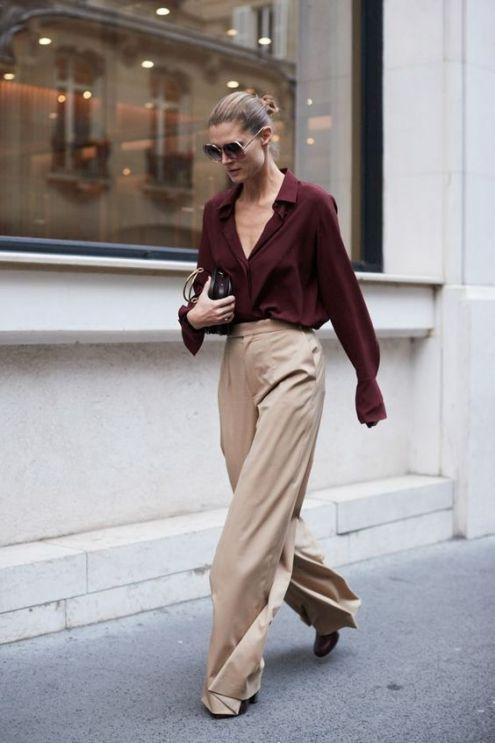 Comment porter le pantalon large, aussi appelé le pantalon wide leg! Découvrez des idées de tenues pour vous inspirer.