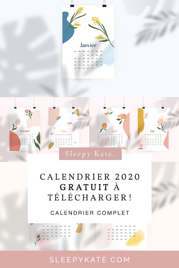 Calendrier 2020 à télécharger gratuitement! - Sleepy Kate