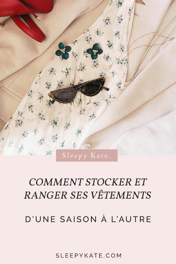 Comment ranger et stocker ses vêtements d'une saison à l'autre - Sleepy Kate