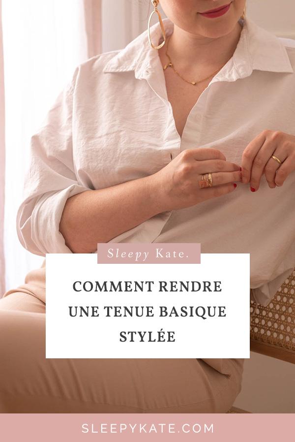 Les tenues les plus simples sont souvent les plus efficaces d'après-moi. Mais comment faire pour rendre une tenue basique stylée? Améliorer votre style et vos tenues grâce à mes conseils! #basic #tenuebasique