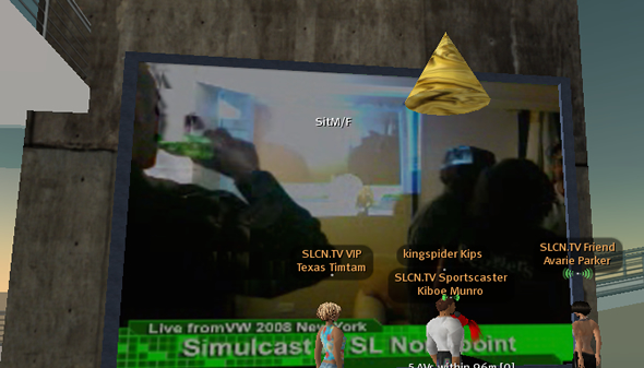 Virtual Worlds Conference 2008 streamed live into Second Life