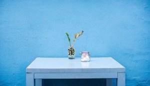 Stůl modrá