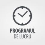 Program de lucru S.L.Î Bihor în perioada 22 aprilie 2019 – 3 mai 2019