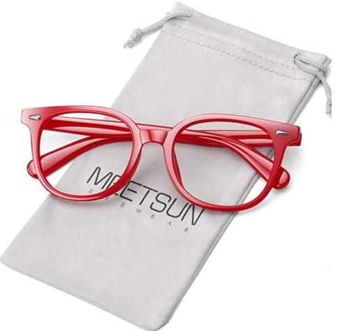 Red Frame Blue Light Glasses