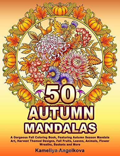 Autumn Mandalas Adult Coloring Book
