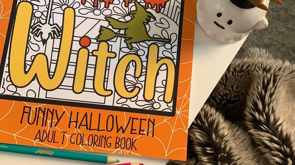 Don't Be a Basic Witch Adult Coloring Book and Pencils