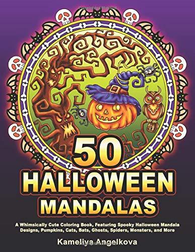 Halloween Mandalas Adult Coloring Book