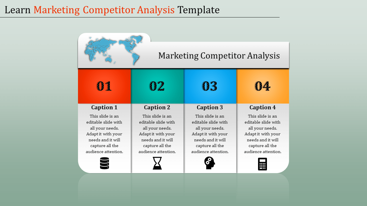 More importantly, these templates help you focus on gathering information on your competitive landscape and deducing business lessons from that data, rather than mulling over which … Simple Marketing Competitor Analysis Template Designs