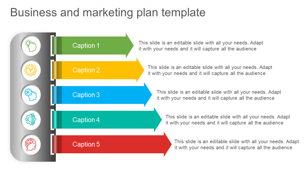 You want to make sure that you understand what kind of strategies need to be implemented and how they should be done to ensure that both marketing and sales expectations are met. Business And Marketing Plan Ppt Template