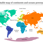 Best Printable Map Of Continents And Oceans Powerpoint Slideegg
